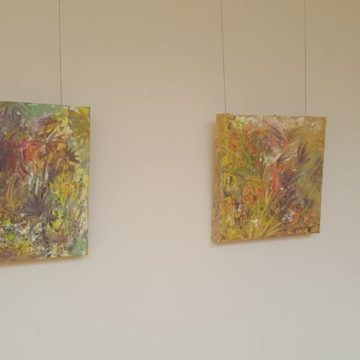marie gray and angela tuite in Atrium Gallery