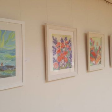 marie gray and angela tuite art in atrium Gallery