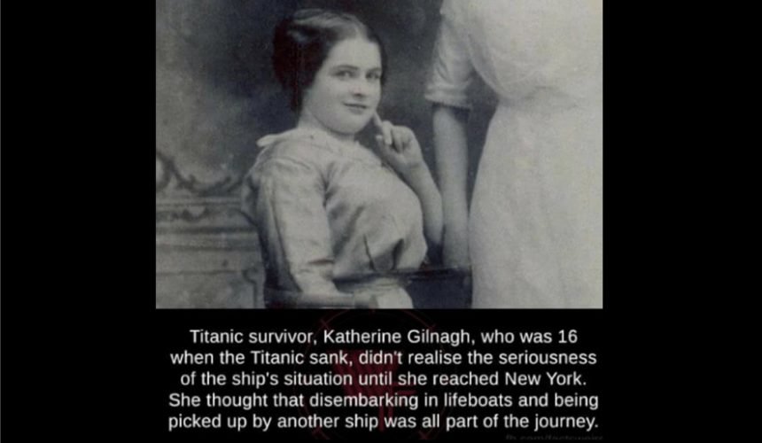 Katnerine Gilnagh last person on the last Titanic life boat web