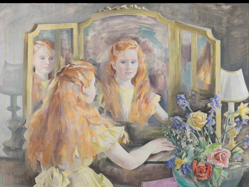 Druid boland image of painting of Eavan Boland as a child painted by her mother